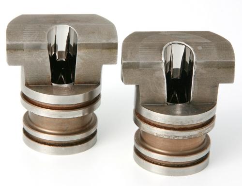 Verrundete Kante bei polierter Oberfläche. Werkstückgröße Ø 40mm.