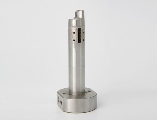Verschleiß an einem Rundkern Ø 20 mm oribtal geschweißt.
