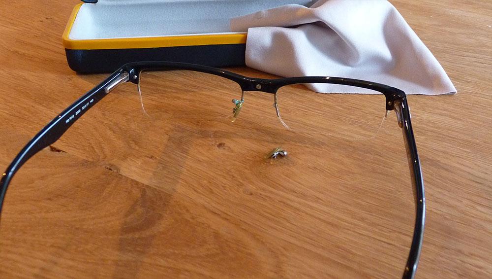 Defekte Brille - Laserschweissen zur Reparatur